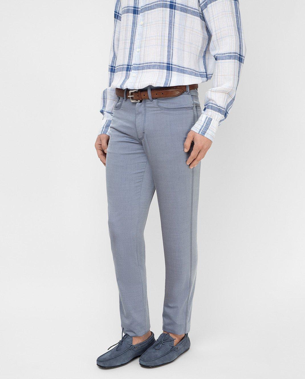 Stefano Ricci Голубые брюки MBT8100020 изображение 3