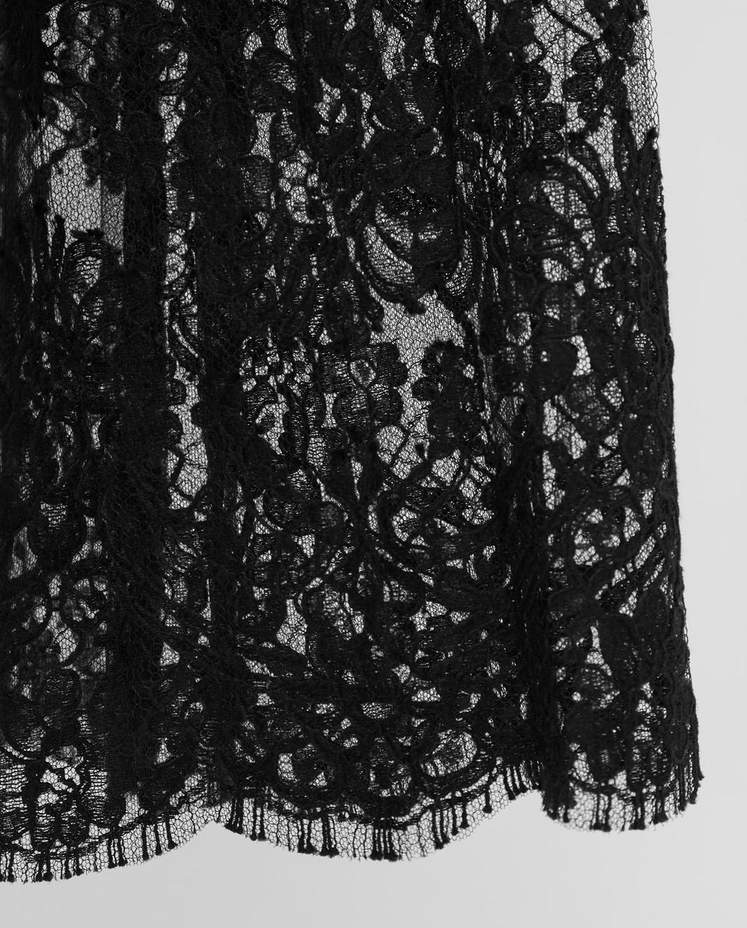 Dolce&Gabbana Черная юбка из шелка изображение 5