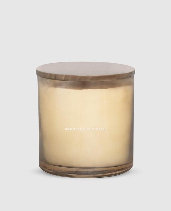 Светло-бежевая свеча