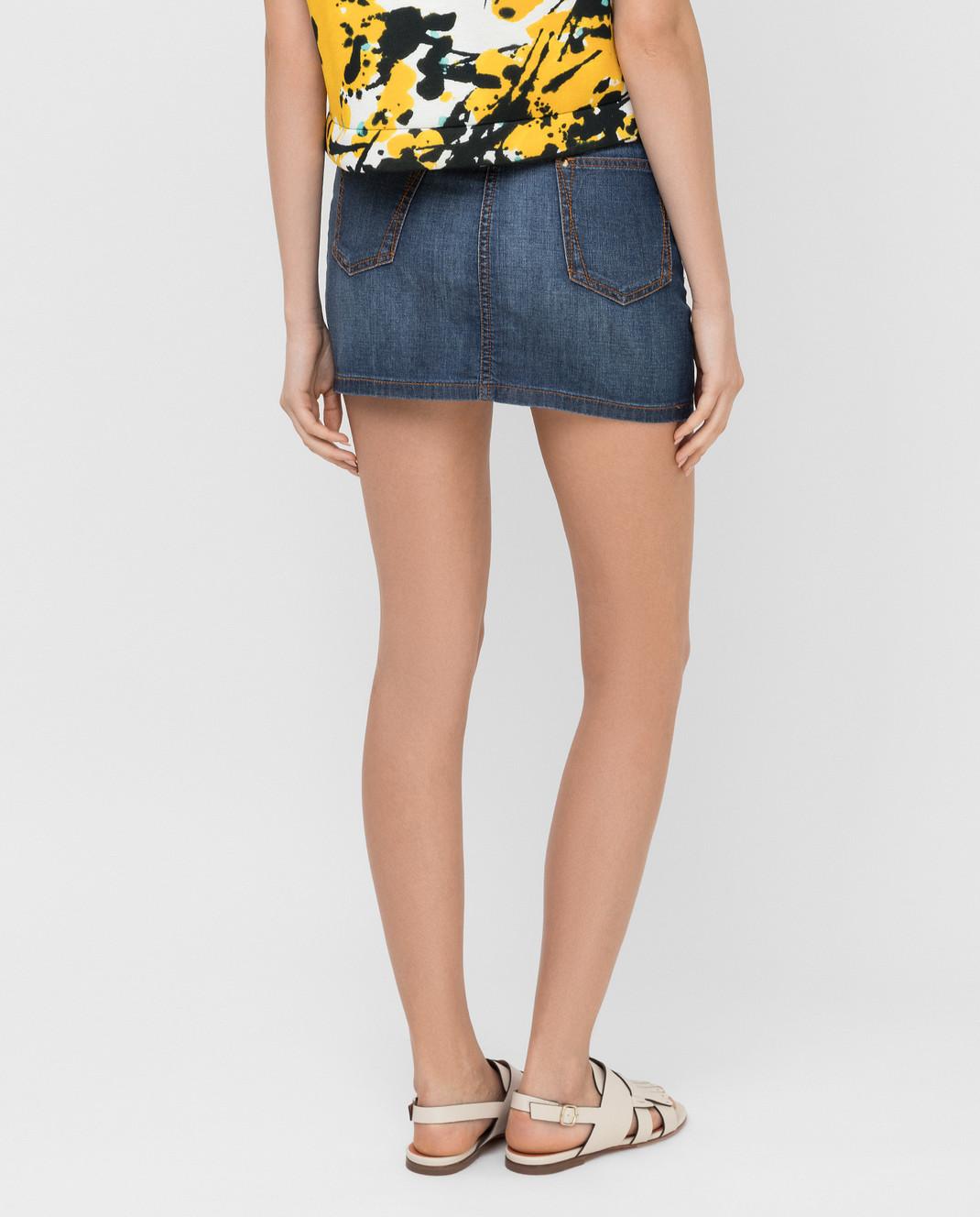 Roberto Cavalli Синяя джинсовая юбка CQJ320 изображение 4