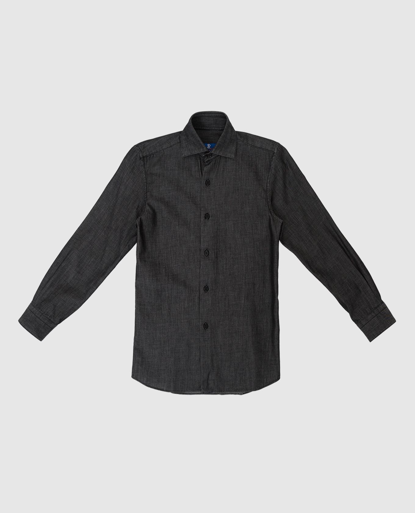 Детская темно-серая рубашка Stefano Ricci