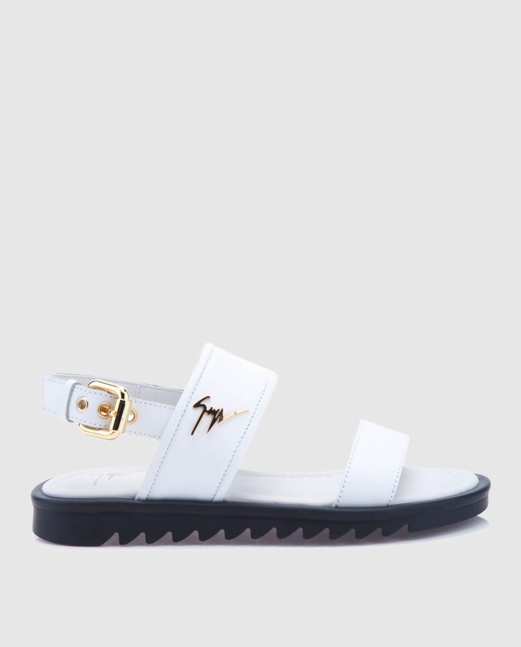 Giuseppe Zanotti Белые кожаные сандалии  SBE8409002