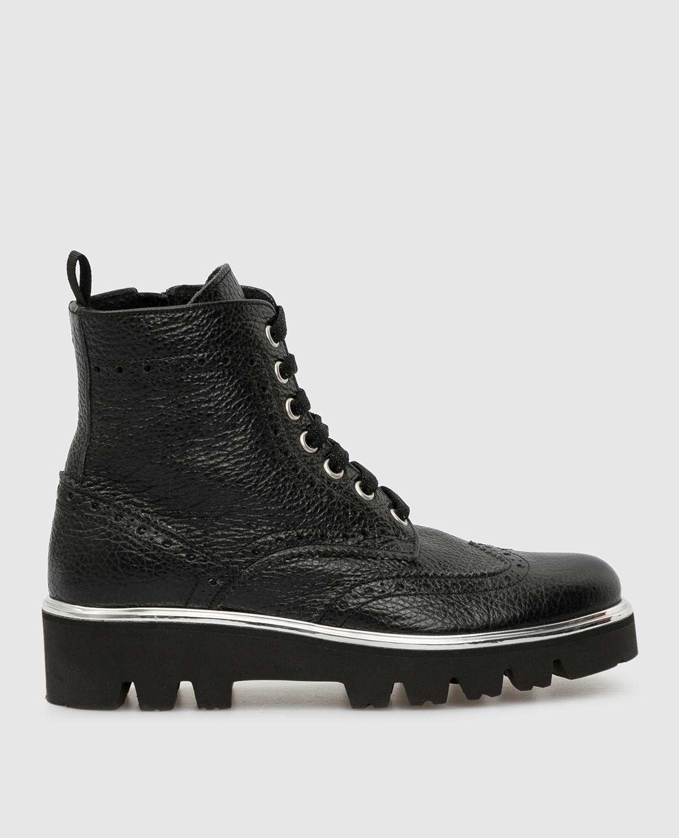 Детские черный ботинки