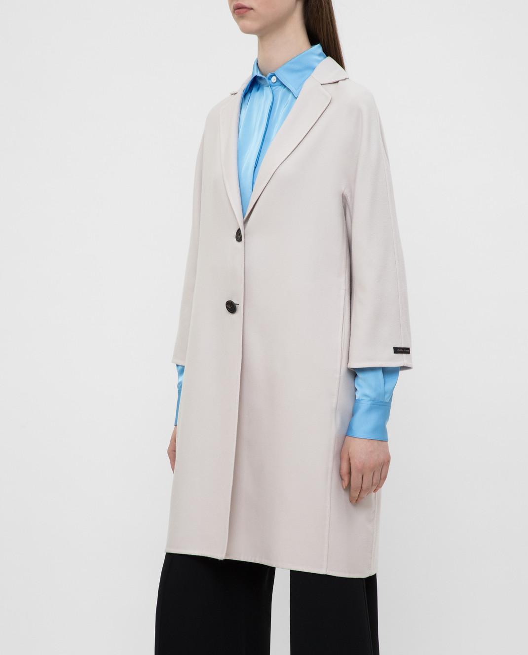 Peserico Светло-бежевое пальто из кашемира и шерсти S20493E изображение 3
