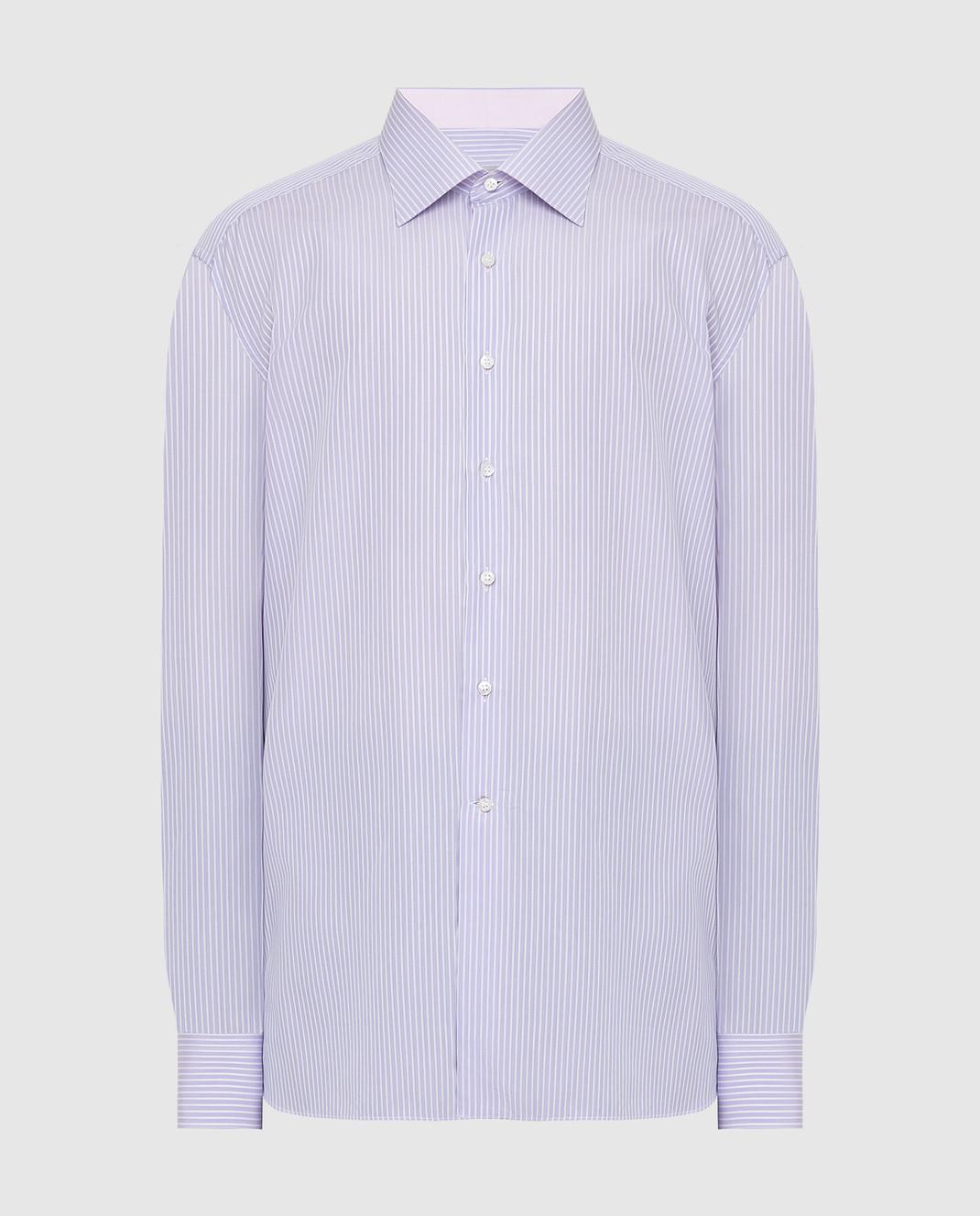 Stefano Ricci Сиреневая рубашка MC000872
