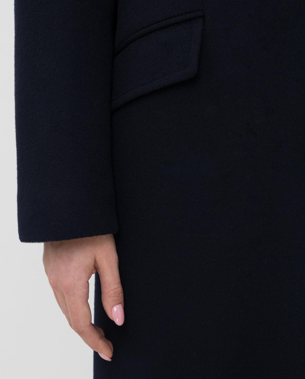 Heresis Темно-синее пальто из шерсти изображение 5