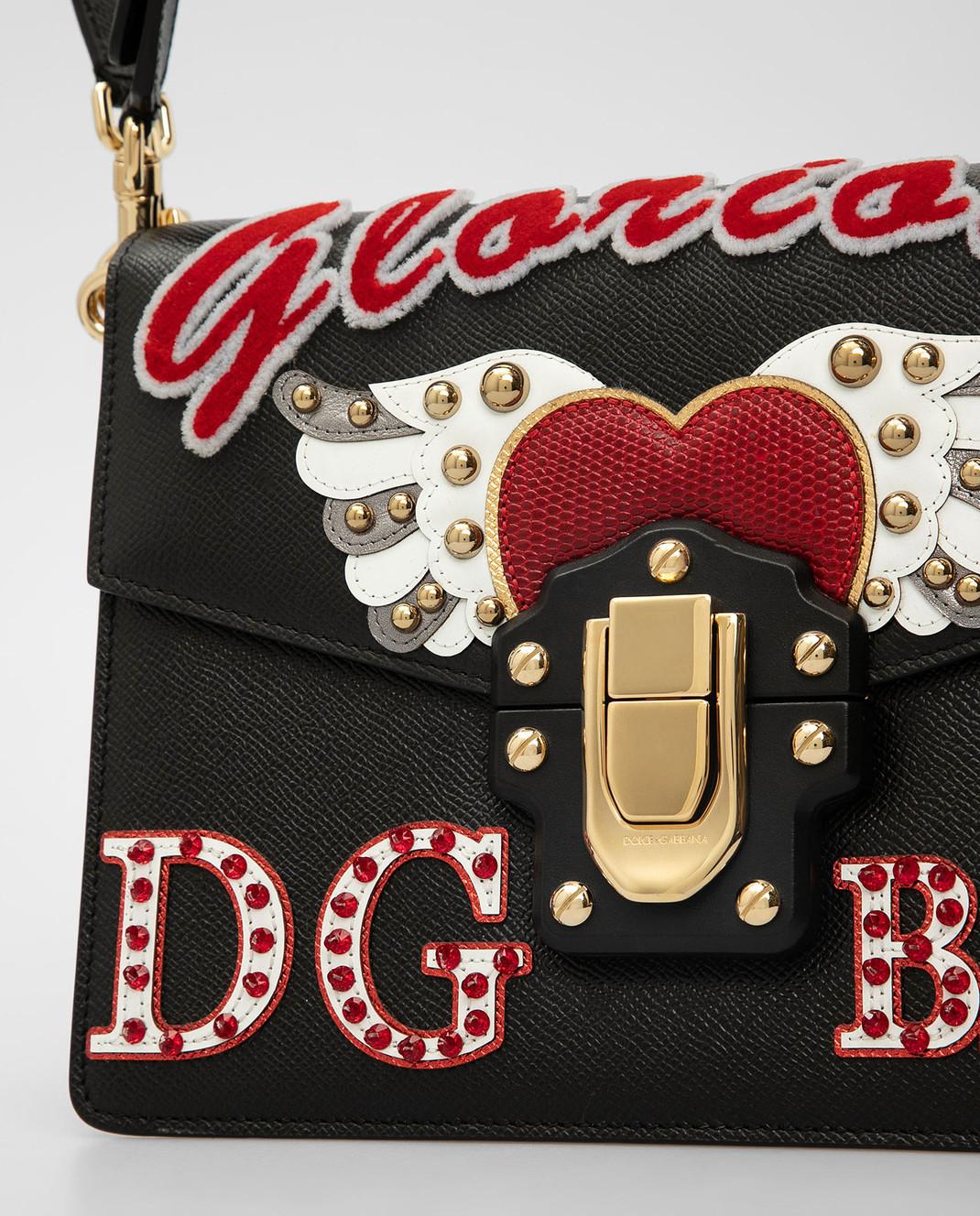 Dolce&Gabbana Черная кожаная сумка