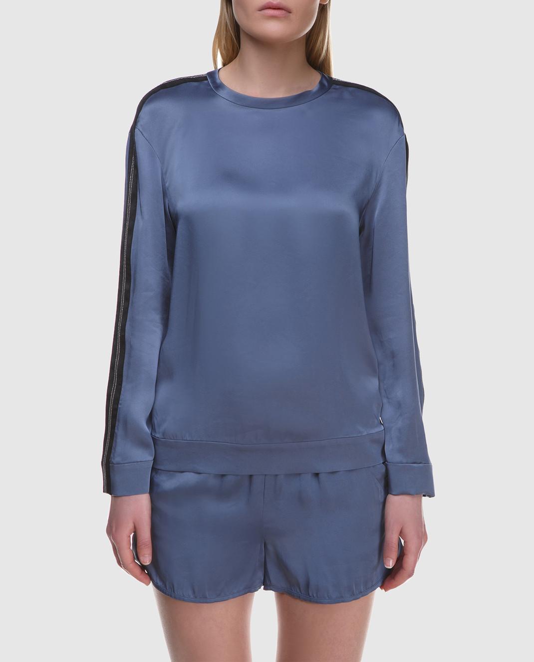 Brunello Cucinelli Синяя блуза M0H34S0720 изображение 3