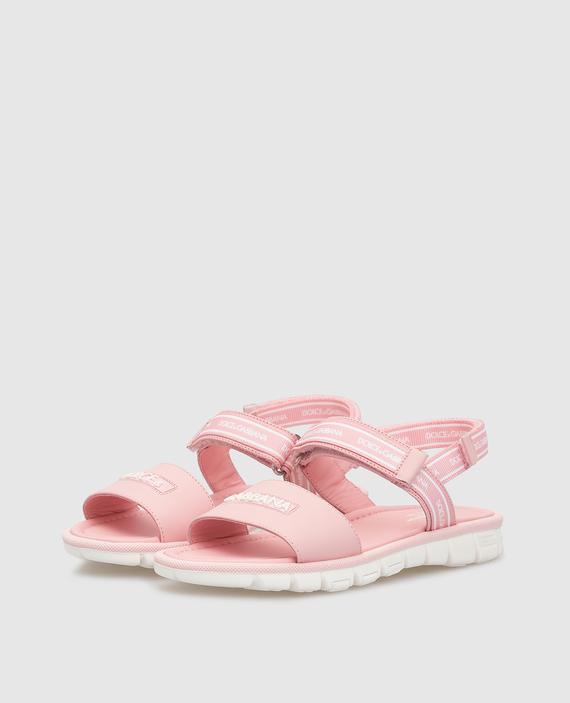 Детские розовые сандалии hover