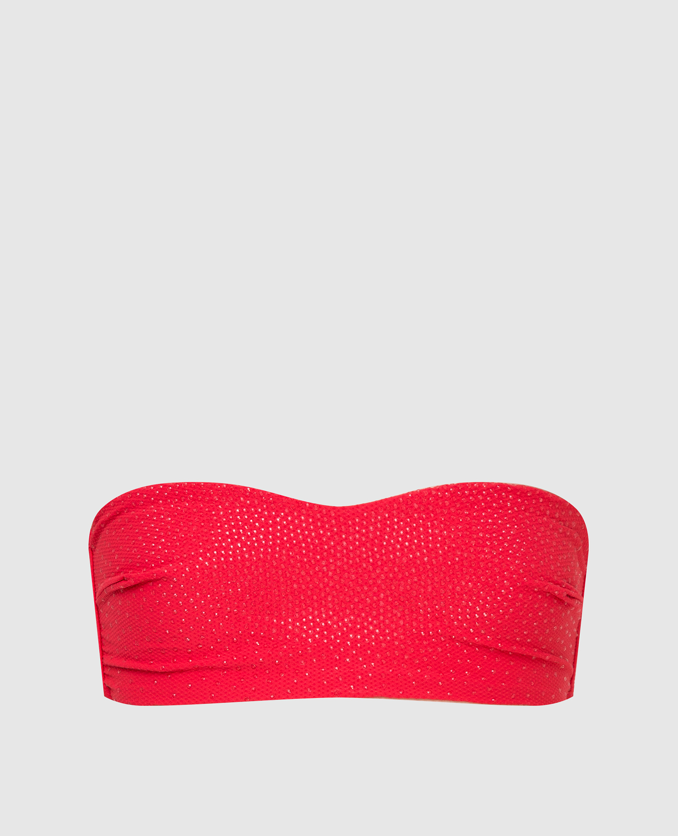 Красный лиф от купальника с кристаллами
