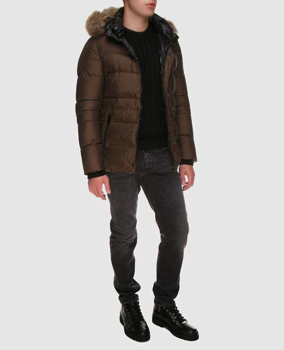 Темно-оливковая куртка hover