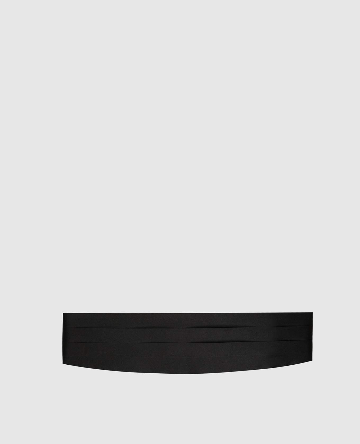 Черный камербанд из шелка