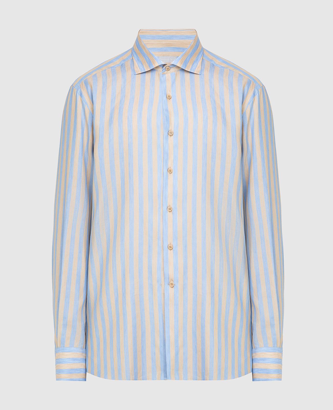 Рубашка из льна и шелка