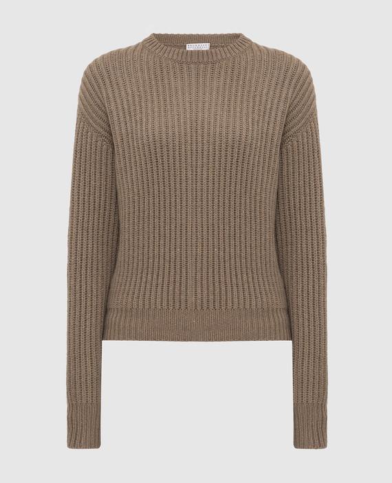 Темно-бежевый свитер из кашемира