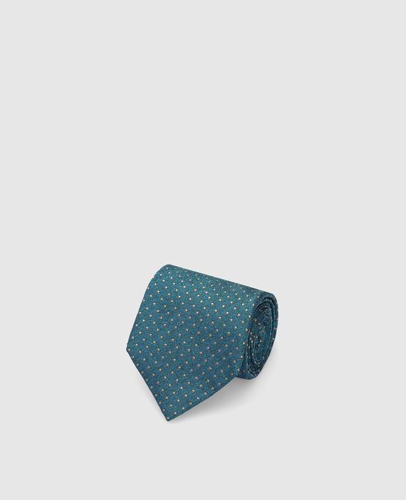 Бирюзовый галстук из шелка
