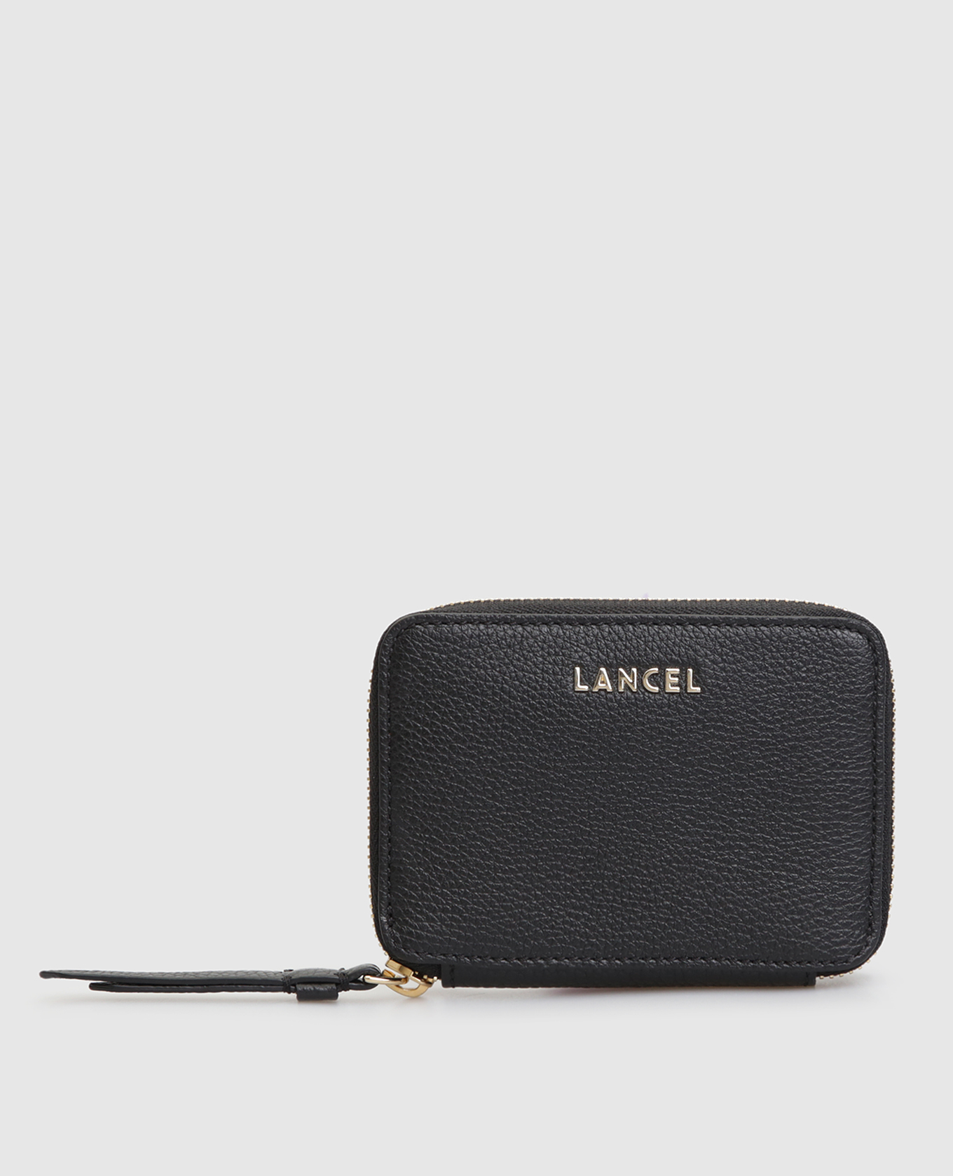 Черный кожаный кошелек Lettrines de Lancel