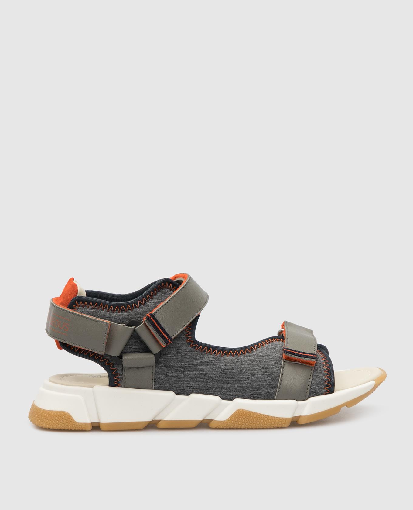 Детские серые сандалии