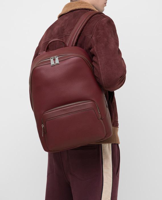Бордовый кожаный рюкзак hover