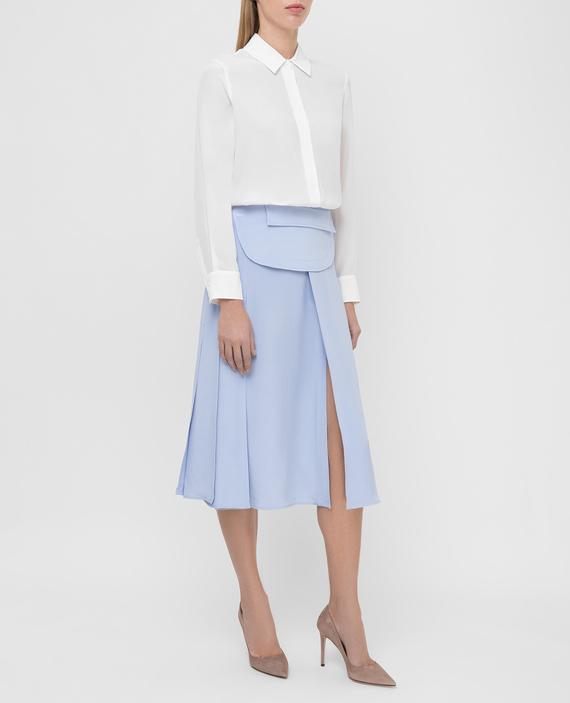 Голубая юбка из шелка hover