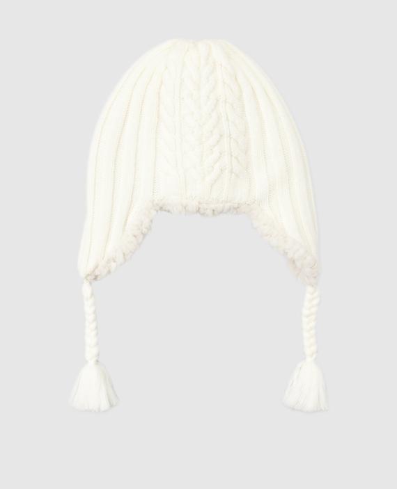 Детская светло-бежевая шапка hover
