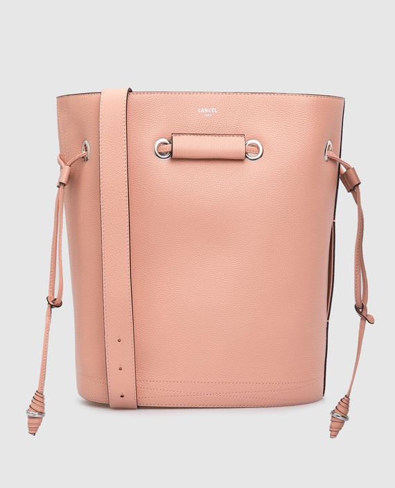 """Розовая кожаная сумка """"Huit """""""