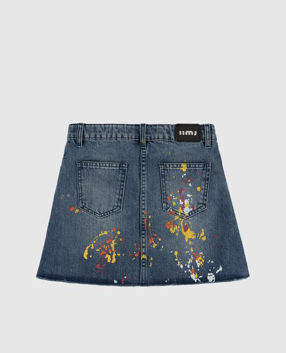 Детская синяя джинсовая юбка hover