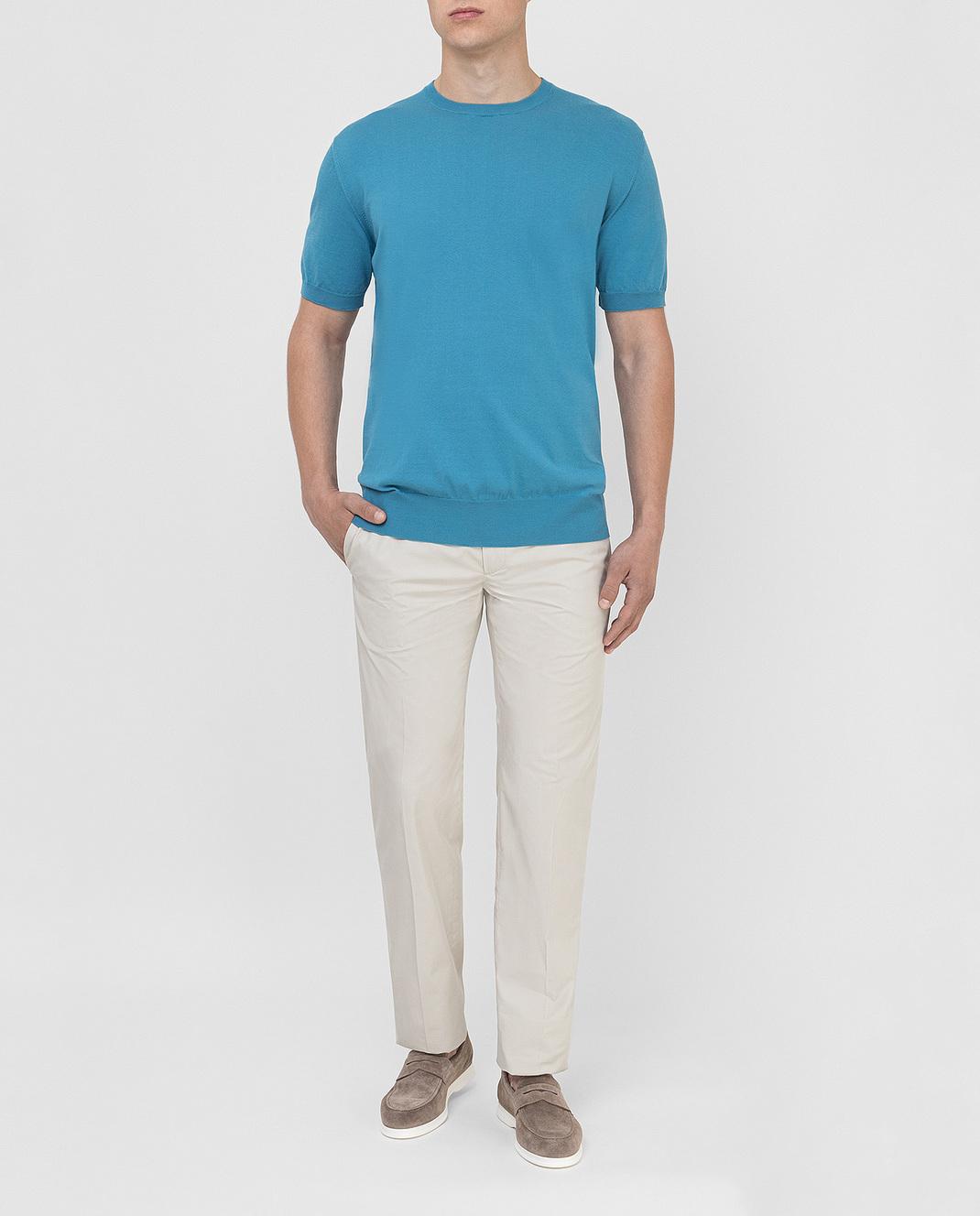 Синяя футболка Loro Piana FAI6176 — Symbol